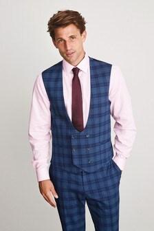 Light Blue Check Suit: Waistcoat