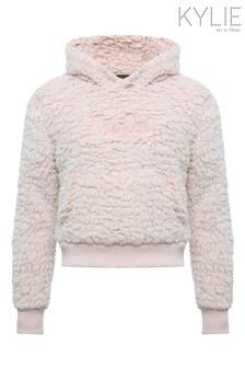Kylie Pink Slogan Weekend Fleece Hoody
