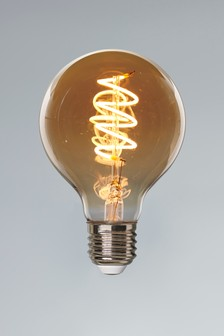 5W LED ES Retro Spiral Globe Dimmable Bulb