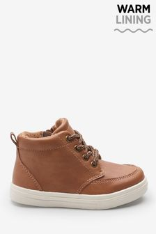 Tan Warm Lined Chukka Boots (Younger)