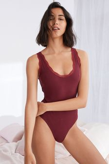 Plum Ribbed Lace Body