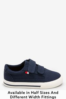 Navy Strap Touch Fastening Shoes (Younger)