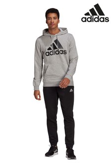 adidas Grey BOS Hooded Tracksuit