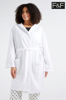 F&F White Waffle Robe