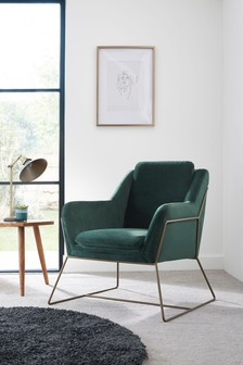 Opulent Velvet Bottle Green Holborn Chair