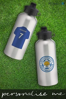 Personalised Leicester City Water Bottle by Personalised Football Gifts