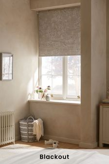Natural Blossom Print Blackout Roller Blind