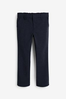 Navy Regular Waist Formal Stretch Skinny Trousers (3-17yrs)
