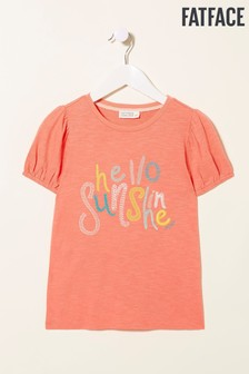 FatFace Pink Sunshine Graphic T-Shirt