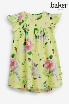 Baker by Ted Baker Yellow Angel Sleeve Dress