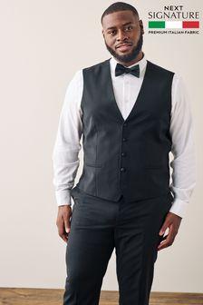 Black Signature Tuxedo Suit: Waistcoat