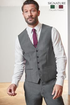 Grey Signature Suit: Waistcoat
