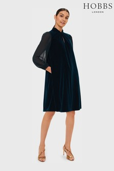 Hobbs Green Faye Velvet Dress