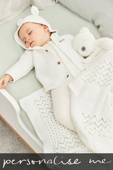 Personalised Knitted Bunny Cardigan