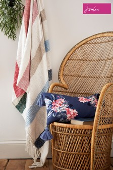 Joules Lost Garden Stripe Cotton Throw