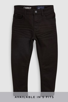 Black Carrot Fit Five Pocket Jeans (3-16yrs)