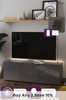 Frank Olsen Smart LED Grey Large TV Cabinet