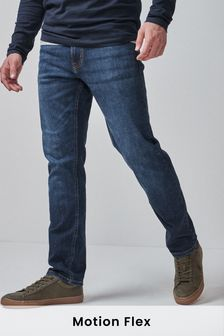 Mid Blue Slim Fit Motion Flex Stretch Jeans