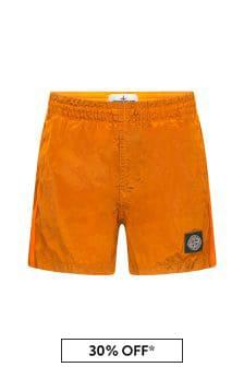 شورت سباحة برتقالي أولادي