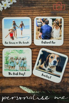 Personalised Photo Upload Retro Coasters by Instajunction