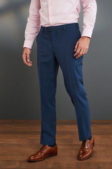 Blue Tailored Fit Signature Suit: Trousers