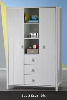 White Skye Triple Wardrobe