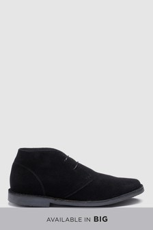 Black   Wide Fit Suede Desert Boot