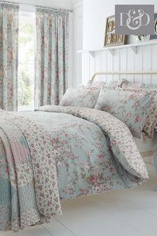 D&D Saskia Floral Duvet Cover and Pillowcase Set