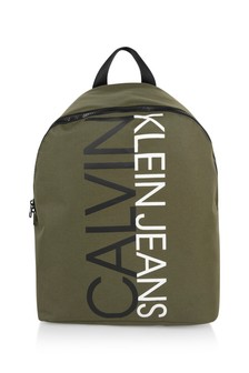 Calvin Klein Jeans Boys Khaki Logo Backpack
