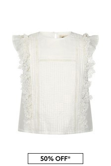 Zadig & Voltaire Girls Ivory Cotton Blouse