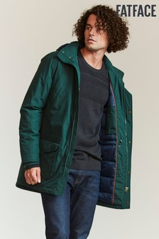 FatFace Green Performance Parka Jacket