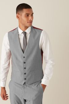 Light Grey Stretch Tonic Suit: Waistcoat