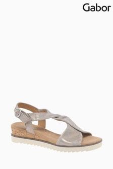 Gabor Rich Muschel Caruso Metallic Sandals