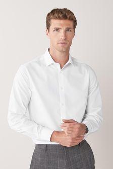 White Regular Fit Single Cuff Cotton Shirts 3 Pack