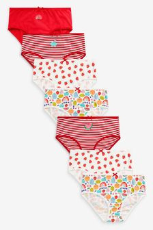 Red/White 7 Pack Multi Fruit Character Briefs (1.5-12yrs)