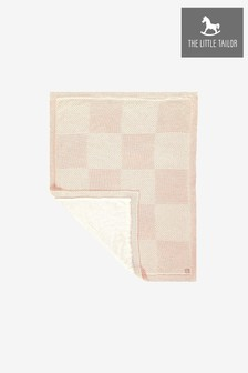 The Little Tailor Pink Baby Knitted Lined Shawl Blanket