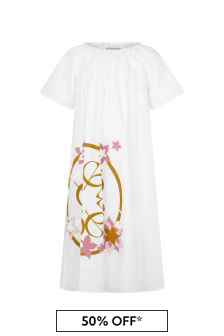 ELIE SAAB Girls White Cotton Dress