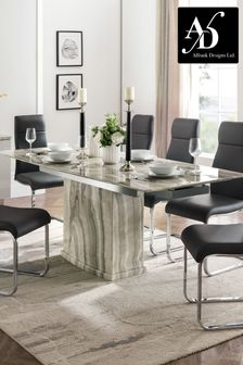 White Porta Extending Dining Table by Alfrank
