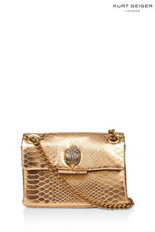 Kurt Geiger London Gold Mini Kensington Bag