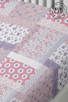 Floral Patchwork Mermaids Fitted Sheet by Bedlam