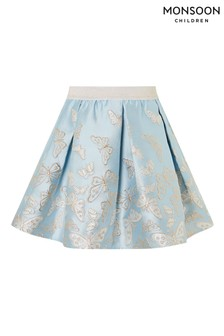 Monsoon Blue Cascading Butterfly Skirt