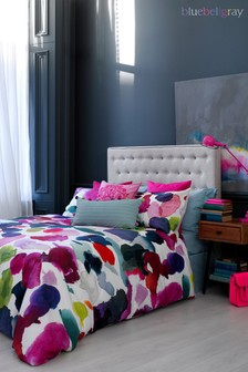 Bluebellgray Pink Abstract Cotton Duvet Cover and Pillowcase Set