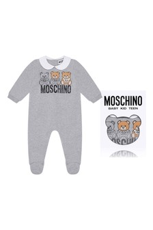 Grey Cotton Fleece Babygrow