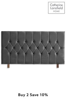 Grey Boutique Velvet Headboard By Catherine Lansfield