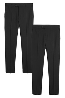Black Skinny Fit Two Pack Trousers