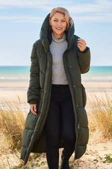 Khaki Emma Willis Long Padded Jacket