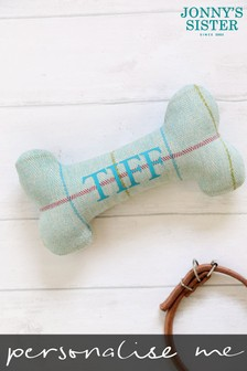 Personalised Tweed Dog Bone Small by Jonny's Sister