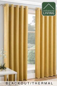 Enhanced Living Ochre Lined Thermal/Blackout Curtains