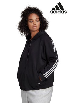 adidas Curve Black Future Icons Zip Through Hoodie