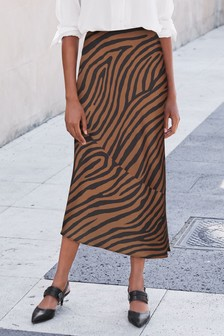 Zebra  Slip Skirt